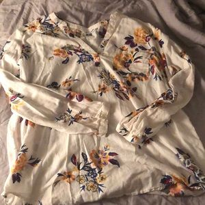 Old navy floral tunic top